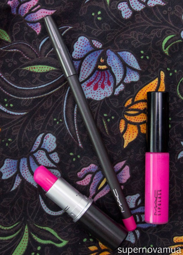 MAC Candy Yum Yum Lipstick Lipglass Pencil Lip Liner-7